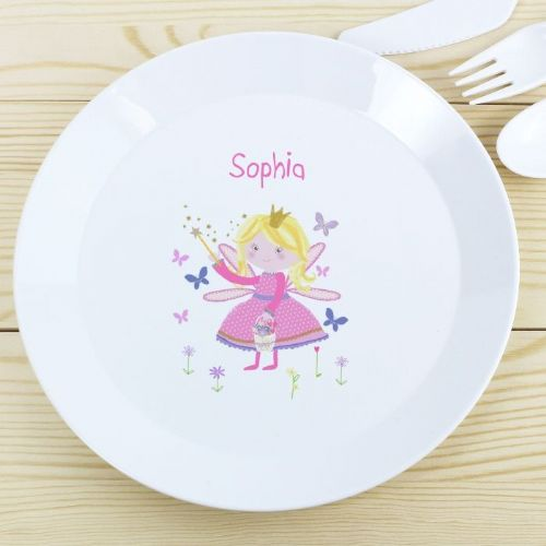 Personalised Garden Fairy Plastic Plate